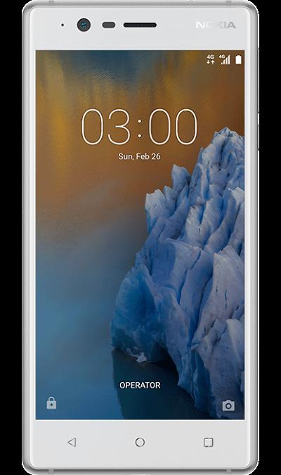Nokia 3 Silver WhiteСмартфоны<br>2G, 3G, 4G, Wi-Fi; ОС Android; Камера 8 Mpix, AF; Разъем для карт памяти; MP3, FM,  GPS; Вес 145 г.<br><br>Colour: Белый