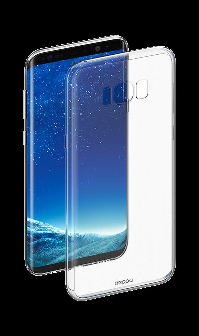 Чехол-крышка Deppa для Samsung Galaxy S8 Plus, силикон, прозрачныйЧехлы и сумочки<br>Чехол Samsung поможет не только защитить ваш Samsung Galaxy  S8 Plus от повреждений, но и сделает обращение с ним более удобным, а сам аппарат будет выглядеть еще более элегантным.<br>