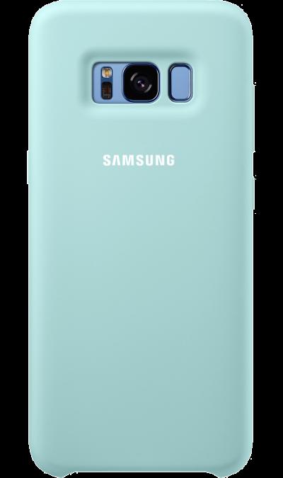 Чехол-крышка Samsung для Galaxy S8, силикон, голубойЧехлы и сумочки<br>Эластичный и прочный чехол, выполненный из силикона. Легкий и тонкий, он практически не изменяет размеры телефона, плотно охватывая и надежно удерживая его внутри. Отверстия идеально совпадают с разъемами и элементами управления. Таким образом, предотвращается преждевременный износ смартфона, а пользователю обеспечивается максимальный комфорт.<br><br>Colour: Голубой