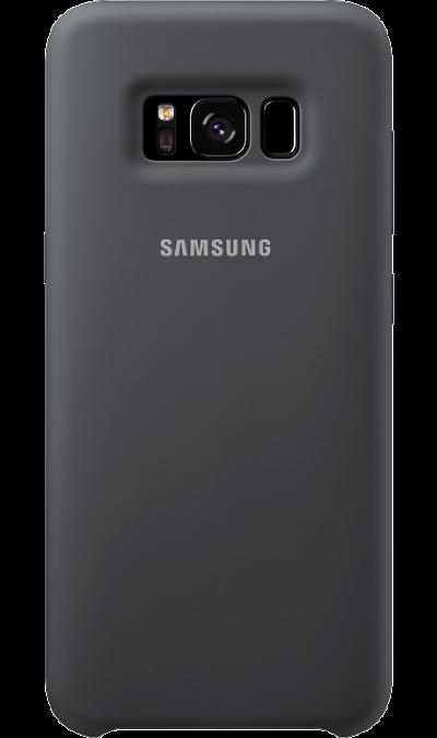Чехол-крышка Samsung для Galaxy S8, силикон, темно-серыйЧехлы и сумочки<br>Эластичный и прочный чехол, выполненный из силикона. Легкий и тонкий, он практически не изменяет размеры телефона, плотно охватывая и надежно удерживая его внутри. Отверстия идеально совпадают с разъемами и элементами управления. Таким образом, предотвращается преждевременный износ смартфона, а пользователю обеспечивается максимальный комфорт.<br><br>Colour: Серый