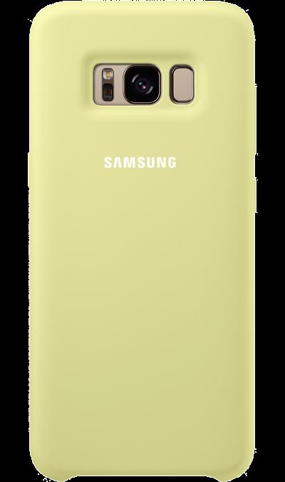 Чехол-крышка Samsung для Galaxy S8, силикон, светло-зеленыйЧехлы и сумочки<br>Эластичный и прочный чехол, выполненный из силикона. Легкий и тонкий, он практически не изменяет размеры телефона, плотно охватывая и надежно удерживая его внутри. Отверстия идеально совпадают с разъемами и элементами управления. Таким образом, предотвращается преждевременный износ смартфона, а пользователю обеспечивается максимальный комфорт.<br>