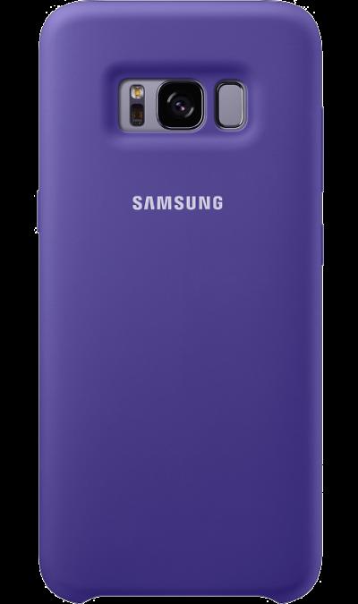 Чехол-крышка Samsung для Galaxy S8 Plus, силикон, фиолетовыйЧехлы и сумочки<br>Эластичный и прочный чехол, выполненный из силикона. Легкий и тонкий, он практически не изменяет размеры телефона, плотно охватывая и надежно удерживая его внутри. Отверстия идеально совпадают с разъемами и элементами управления. Таким образом, предотвращается преждевременный износ смартфона, а пользователю обеспечивается максимальный комфорт.<br><br>Colour: Фиолетовый