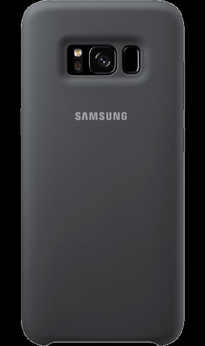Чехол-крышка Samsung для Galaxy S8 Plus, силикон, темно-серыйЧехлы и сумочки<br>Эластичный и прочный чехол, выполненный из силикона. Легкий и тонкий, он практически не изменяет размеры телефона, плотно охватывая и надежно удерживая его внутри. Отверстия идеально совпадают с разъемами и элементами управления. Таким образом, предотвращается преждевременный износ смартфона, а пользователю обеспечивается максимальный комфорт.<br><br>Colour: Серый