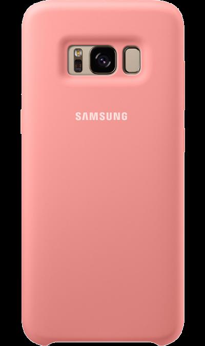 Чехол-крышка Samsung для Galaxy S8 Plus, силикон, розовыйЧехлы и сумочки<br>Эластичный и прочный чехол, выполненный из силикона. Легкий и тонкий, он практически не изменяет размеры телефона, плотно охватывая и надежно удерживая его внутри. Отверстия идеально совпадают с разъемами и элементами управления. Таким образом, предотвращается преждевременный износ смартфона, а пользователю обеспечивается максимальный комфорт.<br><br>Colour: Розовый