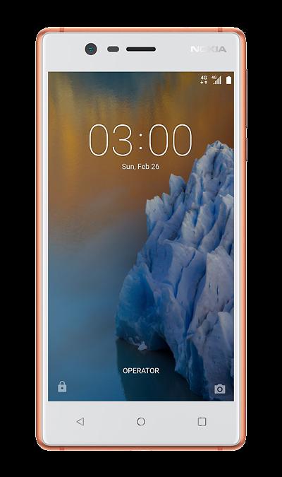 Nokia 3 CopperСмартфоны<br>2G, 3G, 4G, Wi-Fi; ОС Android; Камера 8 Mpix, AF; Разъем для карт памяти; MP3, FM,  GPS; Вес 145 г.<br><br>Colour: Бежевый