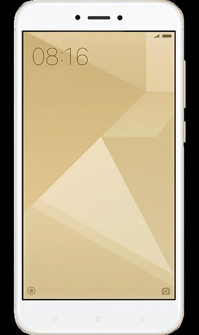 Xiaomi Redmi 4X 32Gb GoldСмартфоны<br>2G, 3G, 4G, Wi-Fi; ОС Android; Дисплей сенсорный 16,7 млн цв. 5; Камера 13 Mpix, AF; Разъем для карт памяти; MP3, FM,  GPS / ГЛОНАСС; Вес 150 г.<br><br>Colour: Золотистый
