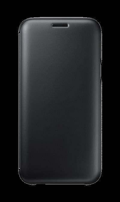 Чехол-книжка Samsung для Galaxy J5 (2017), полиуретан, черныйЧехлы и сумочки<br>Чехол поможет не только защитить ваш Samsung Galaxy J5 (2017) от повреждений, но и сделает обращение с ним более удобным, а сам аппарат будет выглядеть еще более элегантным.<br><br>Colour: Черный
