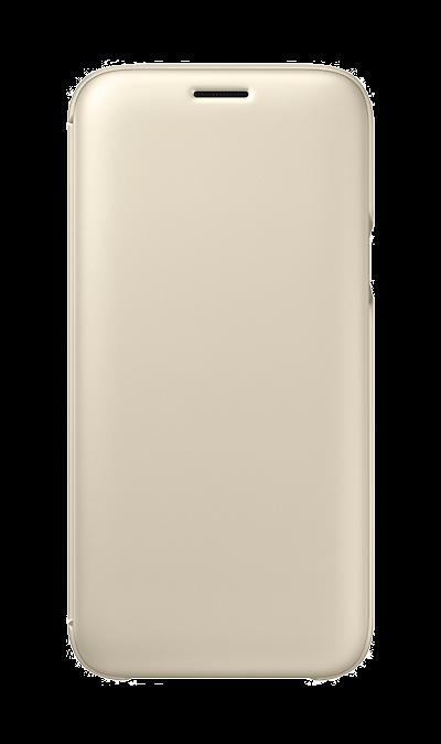 Чехол-книжка Samsung для Galaxy J5 (2017), полиуретан, золотистыйЧехлы и сумочки<br>Чехол поможет не только защитить ваш Samsung Galaxy J5 (2017) от повреждений, но и сделает обращение с ним более удобным, а сам аппарат будет выглядеть еще более элегантным.<br><br>Colour: Золотистый