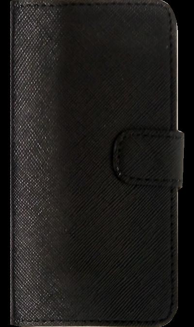 Чехол-книжка FashionTouch для Apple iPhone 5/5s, кожзам, черный (рубчик)Чехлы и сумочки<br>Чехол поможет не только защитить ваш iPhone 5/5S  от повреждений, но и сделает обращение с ним более удобным, а сам аппарат будет выглядеть еще более элегантным.<br><br>Colour: Черный