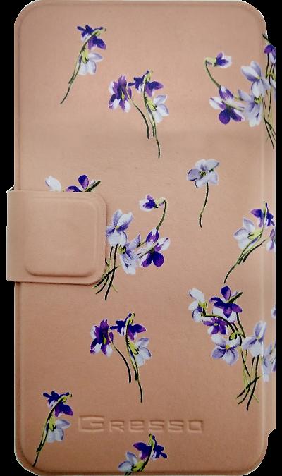 Чехол-книжка Gresso универсальный 4.2-4.5, кожзам, розовый (горизонтальный)Чехлы и сумочки<br>Универсальный чехол-книжка для устройств с диагональю экрана от 4.2 до 4.5 дюйма. Придаст индивидуальность вашему смартфону и защитит его от царапин и потертостей.<br><br>Colour: Розовый
