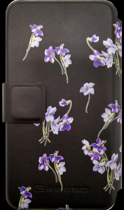 Gresso Чехол-книжка Gresso универсальный 4.9-5.2'', кожзам, черный (горизонтальный) gresso pr 2