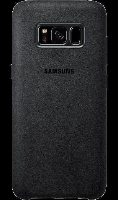 Чехол-крышка Samsung для Galaxy S8, алькантара, темно-серыйЧехлы и сумочки<br>Великолепный стиль.<br>Лицевая поверхность данного чехла выполнена из ультрамикрофибры высочайшего качества - материала, разработанного итальянской фабрикой Alcantara SpA и отличающегося мягкостью, богатой цветовой гаммой, великолепной износостойкостью и долговечностью.<br><br>Премиальная защита.<br>Чехол Alcantara Cover не только придаёт смартфону изящный и элегантный вид, но и обеспечивает необходимую защиту от многих внешних воздействий.<br><br>Colour: Серый