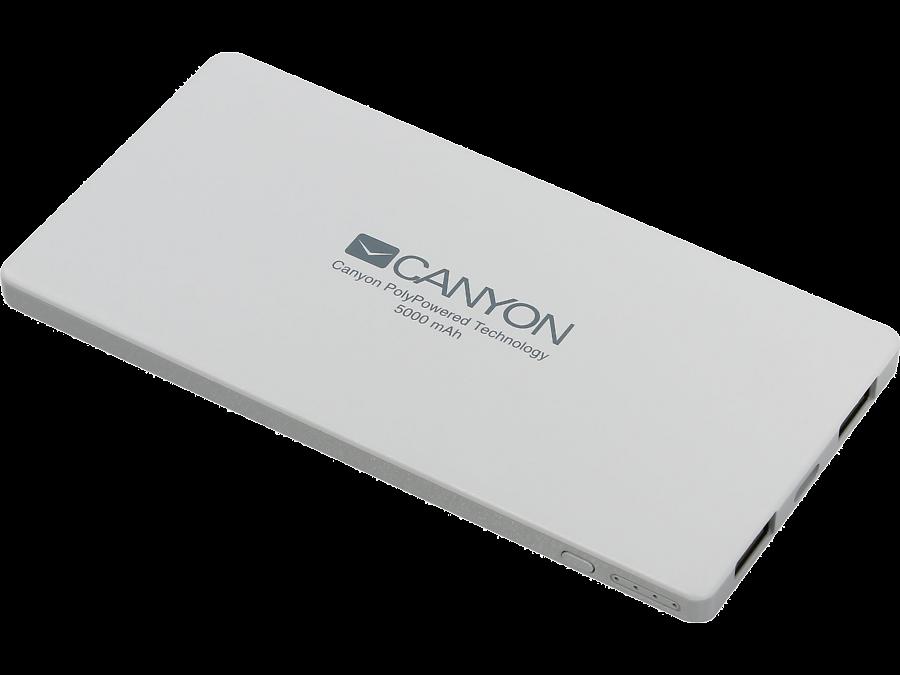 Аккумулятор Canyon CNS-TPBP5W, Li-Pol, 5000 мАч, белый (портативный)