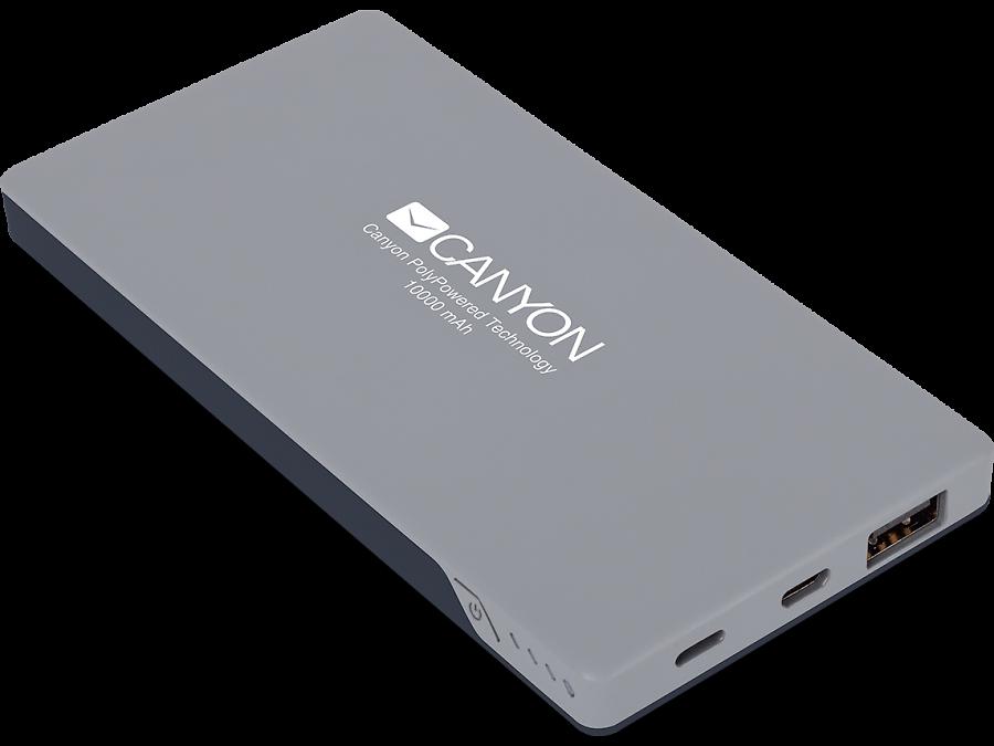 Аккумулятор Canyon CNS-TPBP10DG, Li-Pol, серый (портативный)