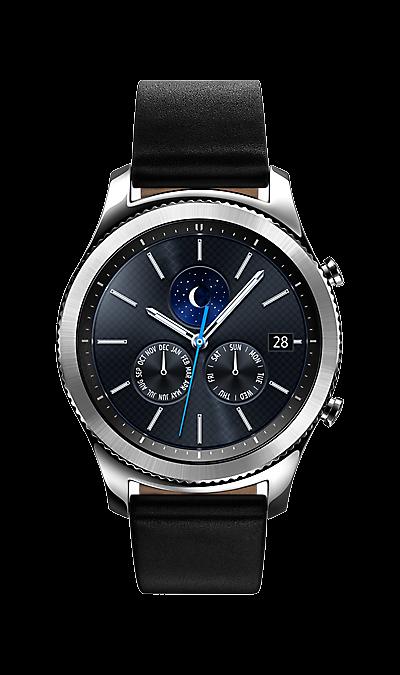 Samsung Gear S3 ClassicУмные часы<br>Устройство Gear S3 выглядит как настоящие часы премиум-класса. Вы поворачиваете безель, и эти смарт-часы переворачивают ваш мир с ног на голову благодаря современным функциям - от встроенного GPS-модуля и динамика до прямого доступа ко всем необходимым приложениям. Они разработаны таким образом, что вы можете носить их несколько дней без необходимости подключения к телефону или подзарядки. <br>*Для Bluetooth-модели требуется Wi-Fi подключение и приложение для голосовых вызовов, чтобы совершать звонки ...<br>