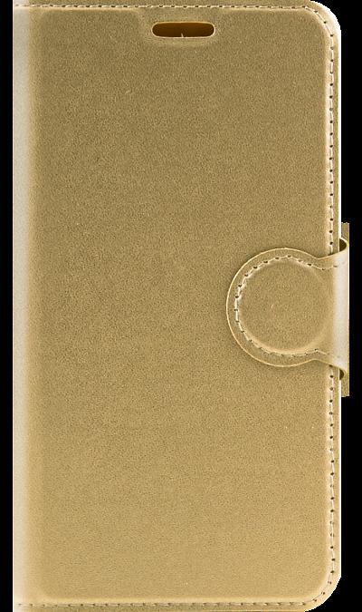 цены на RedLine Чехол-книжка RedLine Book Type для Samsung Galaxy J2 Prime, полиуретан, золотистый