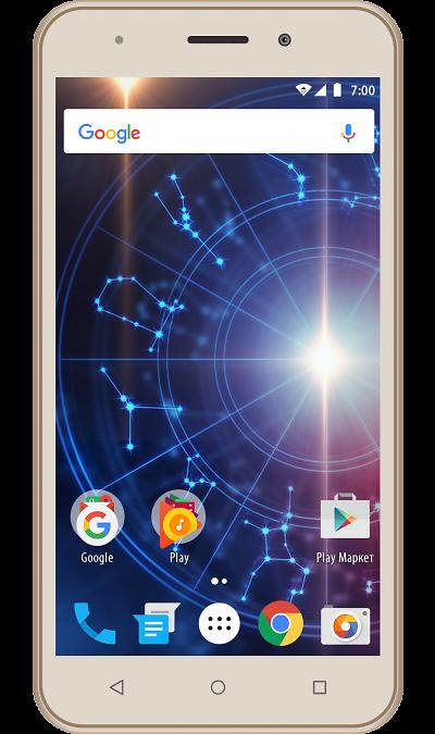 Vertex Impress Luck GoldСмартфоны<br>2G, 3G, Wi-Fi; ОС Android; Дисплей сенсорный емкостный 16,7 млн цв. 5; Камера 5 Mpix, AF; Разъем для карт памяти; MP3, FM,  GPS; Вес 155 г.<br><br>Colour: Золотистый