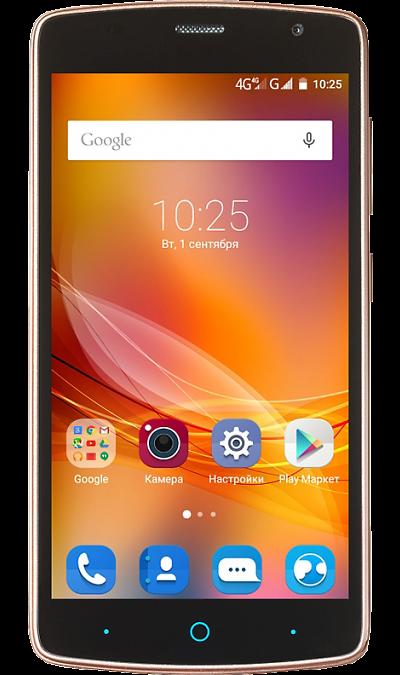 ZTE Blade L5 PlusСмартфоны<br>2G, 3G, Wi-Fi; ОС Android; Дисплей сенсорный емкостный 16,7 млн цв. 5; Камера 8 Mpix, AF; Разъем для карт памяти; MP3, FM,  GPS; Вес 128 г.<br><br>Colour: Золотистый