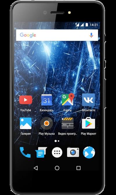 Highscreen RazarСмартфоны<br>2G, 3G, 4G, Wi-Fi; ОС Android; Камера 8 Mpix, AF; Разъем для карт памяти; MP3, FM,  GPS / ГЛОНАСС; Вес 124 г.<br><br>Colour: Черный