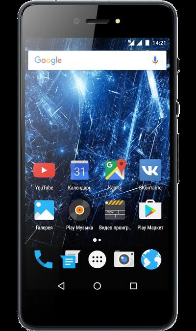 Highscreen Razar ProСмартфоны<br>2G, 3G, 4G, Wi-Fi; ОС Android; Камера 9.5 Mpix, AF; Разъем для карт памяти; MP3, FM,  GPS / ГЛОНАСС; Вес 124 г.<br><br>Colour: Серый