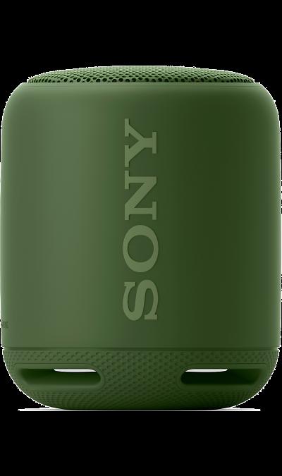 Sony SRS-XB10Портативная акустика<br>Подключите музыку и наслаждайтесь звуком лучшего качества.<br>Слушайте музыку в режиме потокового воспроизведения с помощью подключений Bluetooth и NFC. Благодаря цифровому усилителю S-Master и технологии цифрового улучшения звука DSEE вся музыка будет звучать великолепно. Наслаждайтесь музыкой, хранящейся на смартфоне, планшете, ПК или портативном аудиоустройстве, в еще более лучшем качестве в любом месте.<br>Разработаны для потрясающего звука.<br>Союз технологий, ...<br><br>Colour: Зеленый