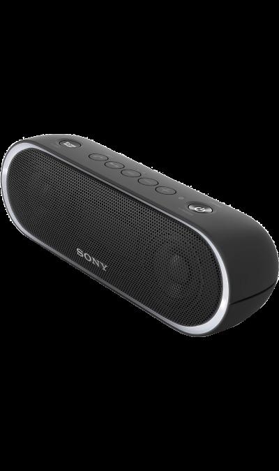 Sony SRS-XB20Портативная акустика<br>Максимум веселья.<br>Раскачайте вечеринку по полной, включив беспроводную акустическую систему SRS-XB20 с мощными басами и стильной подсветкой.<br><br>Почувствуйте ритм.<br>Мощное звучание, которое всегда с вами.<br><br>Добавьте басам мощности с EXTRA BASS.<br>Чтобы раскачать вечеринку, просто нажмите кнопку EXTRA BASS. Двойные пассивные излучатели в сочетании с полнодиапазонными стереодинамиками усиливают звучание низких частот, придавая им неожиданную глубину для ...<br><br>Colour: Черный