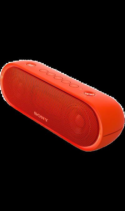 Sony SRS-XB20Портативная акустика<br>Максимум веселья.<br>Раскачайте вечеринку по полной, включив беспроводную акустическую систему SRS-XB20 с мощными басами и стильной подсветкой.<br><br>Почувствуйте ритм.<br>Мощное звучание, которое всегда с вами.<br><br>Добавьте басам мощности с EXTRA BASS.<br>Чтобы раскачать вечеринку, просто нажмите кнопку EXTRA BASS. Двойные пассивные излучатели в сочетании с полнодиапазонными стереодинамиками усиливают звучание низких частот, придавая им неожиданную глубину для ...<br><br>Colour: Красный