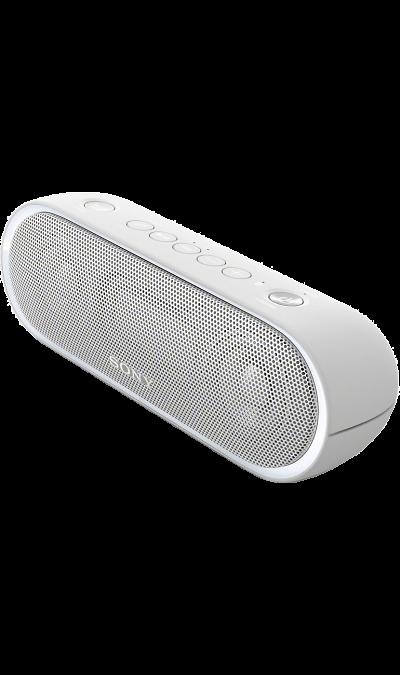 Sony SRS-XB20Портативная акустика<br>Максимум веселья.<br>Раскачайте вечеринку по полной, включив беспроводную акустическую систему SRS-XB20 с мощными басами и стильной подсветкой.<br><br>Почувствуйте ритм.<br>Мощное звучание, которое всегда с вами.<br><br>Добавьте басам мощности с EXTRA BASS.<br>Чтобы раскачать вечеринку, просто нажмите кнопку EXTRA BASS. Двойные пассивные излучатели в сочетании с полнодиапазонными стереодинамиками усиливают звучание низких частот, придавая им неожиданную глубину для ...<br><br>Colour: Белый