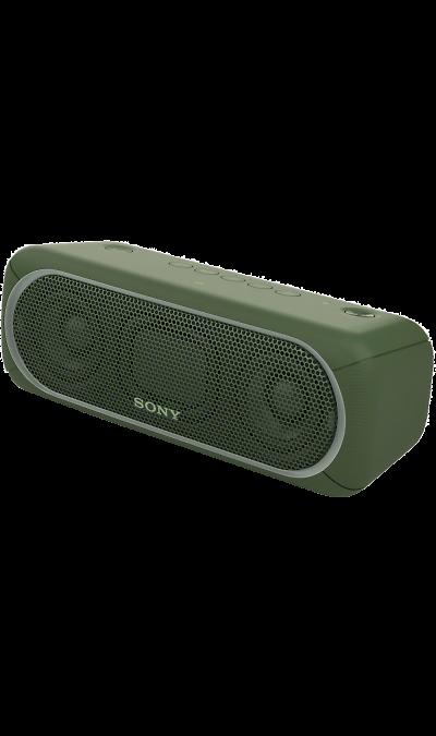 Sony SRS-XB30Портативная акустика<br>Прочувствуйте музыку благодаря EXTRA BASS.<br>Чтобы раскачать вечеринку, просто нажмите кнопку EXTRA BASS. Двойные пассивные излучатели в сочетании с полнодиапазонными стереодинамиками усиливают звучание низких частот, придавая им неожиданную глубину для такой компактной системы.<br><br>Подсветка для зажигательных танцев.<br>Многоцветная линейная подсветка и стробоскоп создадут у вас в гостиной атмосферу ночного клуба.<br><br>Время работы от аккумулятора до 24 ...<br><br>Colour: Зеленый