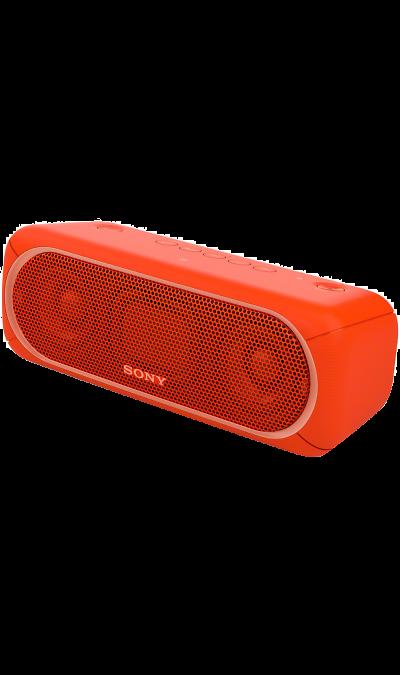 Sony SRS-XB30Портативная акустика<br>Прочувствуйте музыку благодаря EXTRA BASS.<br>Чтобы раскачать вечеринку, просто нажмите кнопку EXTRA BASS. Двойные пассивные излучатели в сочетании с полнодиапазонными стереодинамиками усиливают звучание низких частот, придавая им неожиданную глубину для такой компактной системы.<br><br>Подсветка для зажигательных танцев.<br>Многоцветная линейная подсветка и стробоскоп создадут у вас в гостиной атмосферу ночного клуба.<br><br>Время работы от аккумулятора до 24 ...<br><br>Colour: Красный