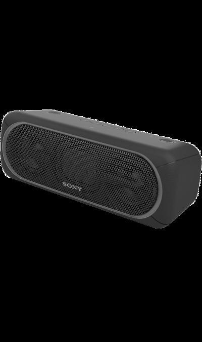 Sony SRS-XB40Портативная акустика<br>Переносной ночной клуб.<br>С мощными басами и яркой подсветкой беспроводная акустическая система SRS-XB40 может превратить любое помещение в настоящий ночной клуб.<br><br>Почувствуйте ритм.<br>Мощное звучание, которое всегда с вами.<br><br>Отрывайтесь на полную с EXTRA BASS.<br>Чтобы раскачать вечеринку, просто нажмите кнопку EXTRA BASS. Двойные пассивные излучатели в сочетании с двумя полнодиапазонными динамиками усиливают звучание низких частот, придавая им ...<br><br>Colour: Черный