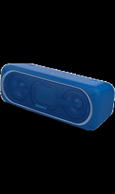 Sony SRS-XB40Портативная акустика<br>Переносной ночной клуб.<br>С мощными басами и яркой подсветкой беспроводная акустическая система SRS-XB40 может превратить любое помещение в настоящий ночной клуб.<br><br>Почувствуйте ритм.<br>Мощное звучание, которое всегда с вами.<br><br>Отрывайтесь на полную с EXTRA BASS.<br>Чтобы раскачать вечеринку, просто нажмите кнопку EXTRA BASS. Двойные пассивные излучатели в сочетании с двумя полнодиапазонными динамиками усиливают звучание низких частот, придавая им ...<br><br>Colour: Синий