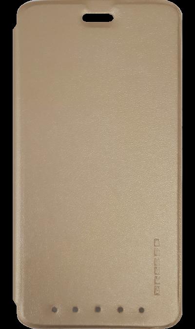 Чехол-книжка Gresso для ZTE Axon 7 mini, полиуретан, золотистыйЧехлы и сумочки<br>Удобный чехол для ZTE Blade V7 lite поможет не только защитить ваш смартфон от повреждений, но и сделает обращение с ним более удобным, а сам аппарат будет выглядеть еще более элегантным.<br><br>Colour: Золотистый