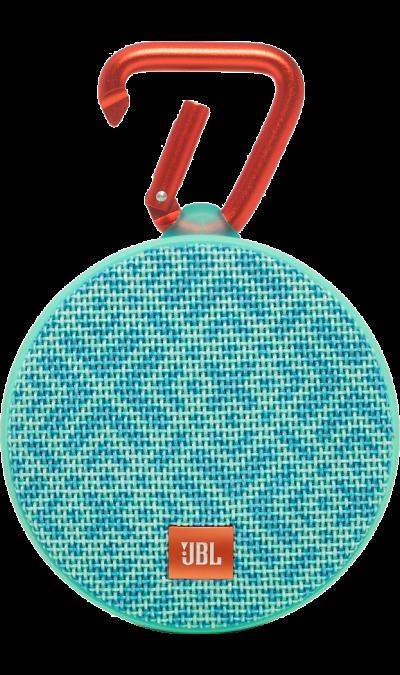 JBL Clip 2 Mosaic BlueПортативная акустика<br>Подключай и слушай<br><br>JBL Clip 2 - ультра-легкая, ультра-прочная и ультра-мощная портативная акустическая система. Полностью водонепроницаемый JBL Clip 2 способен воспроизводить музыку до 8 часов в непрерывном режиме, позволяя брать любимые песни с собой в любое путешествие - по земле или воде. Воспроизводите музыку по беспроводной Bluetooth-связи или подключайте его к смартфону или планшету с помощью аудио-кабеля. Подключайте два Clip 2 по беспроводной связи для усиления звучания. Используйте ...<br>