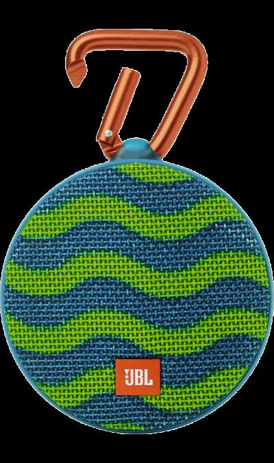 JBL Clip 2 Blue/GreenПортативная акустика<br>Подключай и слушай<br><br>JBL Clip 2 - ультра-легкая, ультра-прочная и ультра-мощная портативная акустическая система. Полностью водонепроницаемый JBL Clip 2 способен воспроизводить музыку до 8 часов в непрерывном режиме, позволяя брать любимые песни с собой в любое путешествие - по земле или воде. Воспроизводите музыку по беспроводной Bluetooth-связи или подключайте его к смартфону или планшету с помощью аудио-кабеля. Подключайте два Clip 2 по беспроводной связи для усиления звучания. Используйте ...<br><br>Colour: Зеленый