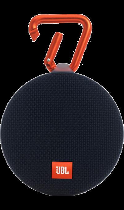 JBL Clip 2 BlackПортативная акустика<br>Подключай и слушай.<br><br>JBL Clip 2 - ультра-легкая, ультра-прочная и ультра-мощная портативная акустическая система. Полностью водонепроницаемый JBL Clip 2 способен воспроизводить музыку до 8 часов в непрерывном режиме, позволяя брать любимые песни с собой в любое путешествие - по земле или воде. Воспроизводите музыку по беспроводной Bluetooth-связи или подключайте его к смартфону или планшету с помощью аудио-кабеля. Подключайте два Clip 2 по беспроводной связи для усиления звучания. ...<br><br>Colour: Черный
