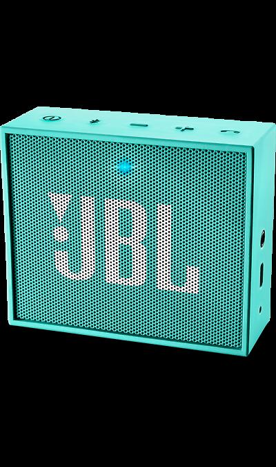 JBL GO TealПортативная акустика<br>JBL GO - везде должен быть только качественный звук!<br><br>Этот динамик является удобным решением всё-в-одном. Он поддерживает Bluetooth, что позволяет подключать его к любым современным гаджетам, а встроенный аккумулятор подарит вам 5 часов музыки без перерыва. JBL GO также оснащен встроенным микрофоном с технологией шумоподавления, что позволяет вам общаться по телефону по громкой связи.<br><br>Доступный в 8 ярких расцветках, в прорезиненном корпусе и фирменном стиле JBL, этот портативный ...<br>