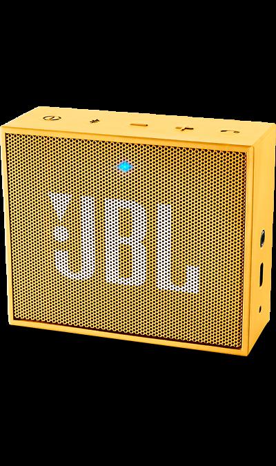 JBL GOПортативная акустика<br>JBL GO - везде должен быть только качественный звук!<br><br>Этот динамик является удобным решением всё-в-одном. Он поддерживает Bluetooth, что позволяет подключать его к любым современным гаджетам, а встроенный аккумулятор подарит вам 5 часов музыки без перерыва. JBL GO также оснащен встроенным микрофоном с технологией шумоподавления, что позволяет вам общаться по телефону по громкой связи.<br><br>Доступный в 8 ярких расцветках, в прорезиненном корпусе и фирменном стиле JBL, этот портативный ...<br><br>Colour: Желтый