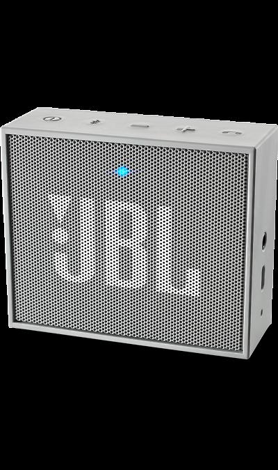 JBL GO GreyПортативная акустика<br>JBL GO - везде должен быть только качественный звук!<br><br>Этот динамик является удобным решением всё-в-одном. Он поддерживает Bluetooth, что позволяет подключать его к любым современным гаджетам, а встроенный аккумулятор подарит вам 5 часов музыки без перерыва. JBL GO также оснащен встроенным микрофоном с технологией шумоподавления, что позволяет вам общаться по телефону по громкой связи.<br><br>Доступный в 8 ярких расцветках, в прорезиненном корпусе и фирменном стиле JBL, этот портативный ...<br><br>Colour: Серый