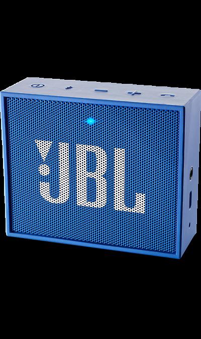 JBL GO BlueПортативная акустика<br>JBL GO - везде должен быть только качественный звук!<br><br>Этот динамик является удобным решением всё-в-одном. Он поддерживает Bluetooth, что позволяет подключать его к любым современным гаджетам, а встроенный аккумулятор подарит вам 5 часов музыки без перерыва. JBL GO также оснащен встроенным микрофоном с технологией шумоподавления, что позволяет вам общаться по телефону по громкой связи.<br><br>Доступный в 8 ярких расцветках, в прорезиненном корпусе и фирменном стиле JBL, этот портативный ...<br><br>Colour: Голубой