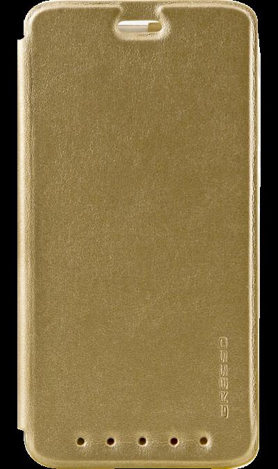 Чехол-книжка Gresso Absolut Air для  ZTE Axon 7 mini, кожзам, золотистыйЧехлы и сумочки<br>Чехол поможет не только защитить ваш смартфон от повреждений, но и сделает обращение с ним более удобным, а сам аппарат будет выглядеть еще более элегантным.<br><br>Colour: Золотистый