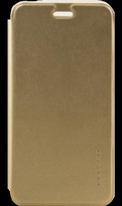 Gresso Чехол-книжка Gresso Absolut Air для ZTE V8, кожзам, золотистый gresso чехол книжка gresso absolut air для zte axon 7 mini кожзам золотистый