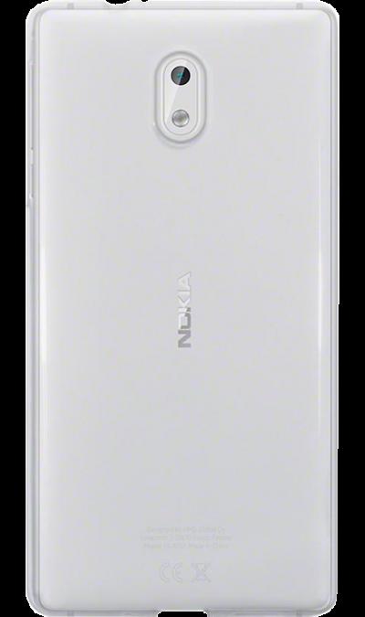 Inter-Step Чехол-крышка Inter-Step для Nokia 3, силикон, прозрачный стоимость