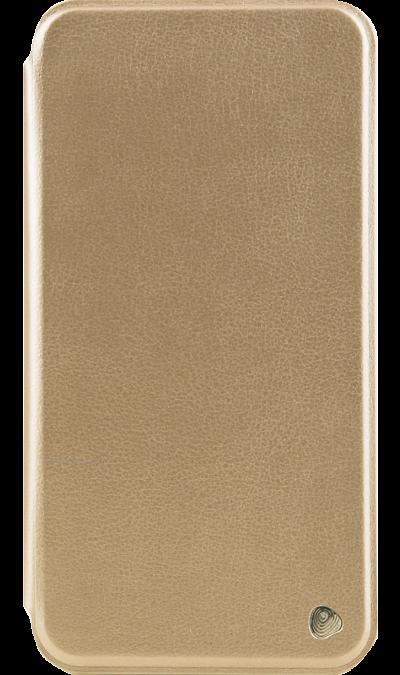 Чехол-книжка FashionTouch для ZTE Blade A610 Plus, кожзам, золотистыйЧехлы и сумочки<br>Чехол поможет не только защитить ваш смартфон от повреждений, но и сделает обращение с ним более удобным, а сам аппарат будет выглядеть еще более элегантным.<br><br>Colour: Золотистый