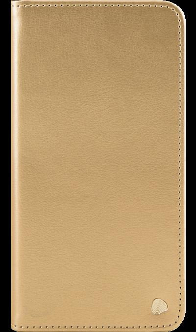 Чехол-книжка FashionTouch для ZTE Blade V7 Max, кожзам, золотистыйЧехлы и сумочки<br>Чехол поможет не только защитить ваш смартфон от повреждений, но и сделает обращение с ним более удобным, а сам аппарат будет выглядеть еще более элегантным.<br><br>Colour: Золотистый