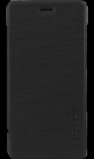 Highscreen Чехол-книжка Highscreen для Highscreen Razar, прорезиненный пластик, черный чехол для highscreen spark купить