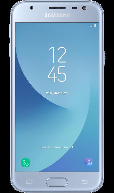 Samsung Galaxy J3 (2017) BlueСмартфоны<br>2G, 3G, 4G, Wi-Fi; ОС Android; Камера 13 Mpix, AF; Разъем для карт памяти; MP3, FM,  GPS / ГЛОНАСС; Вес 142 г.<br><br>Colour: Голубой