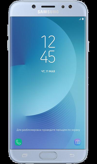 Samsung Galaxy J7 (2017)Смартфоны<br>2G, 3G, 4G, Wi-Fi; ОС Android; Дисплей сенсорный емкостный 16,7 млн цв. 5.5; Камера 13 Mpix, AF; Разъем для карт памяти; MP3, FM,  BEIDOU / GPS / ГЛОНАСС; Вес 181 г.<br><br>Colour: Голубой