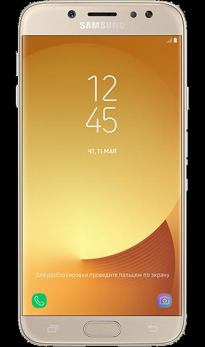 Samsung Galaxy J7 (2017)Смартфоны<br>2G, 3G, 4G, Wi-Fi; ОС Android; Дисплей сенсорный емкостный 16,7 млн цв. 5.5; Камера 13 Mpix, AF; Разъем для карт памяти; MP3, FM,  BEIDOU / GPS / ГЛОНАСС; Вес 181 г.<br><br>Colour: Золотистый