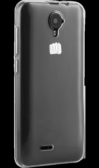 Inter-Step Чехол-крышка Inter-Step для Micromax Q415, силикон, прозрачный micromax смартфон micromax q415 black опция интернет s